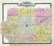 Hodgeman County Outline Map, Hodgeman County 1907