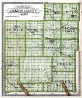 Jackson County Outline Map, Jackson County 1921