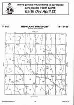 Highland Township, Directory Map, Jewell County 2006