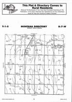 Montana Township Directory Map, Jewell County 2006