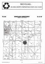 Sinclair Township, Lovejoy, Directory Map, Jewell County 2006