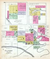 Dell Ray, Jamestown, Clyde, Kansas State Atlas 1887