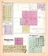 Gould City, Motor, Smith Centre, Webster, Plainville, Kansas State Atlas 1887