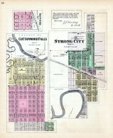 Safford, Cottonwood Falls, Strong City, Kansas State Atlas 1887