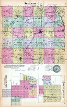 Sumner County, Belle Plaine, Conway Springs, Kansas State Atlas 1887
