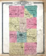 County Outline Map, Lyon County 1918