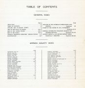 Table of Contents, Marion County 1921