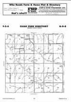 Clear Fork Township  Directory Map, Marshall County 2006