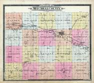 Mitchell Ccounty Outline Map, Mitchell County 1902