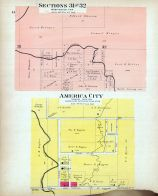 Sections 31 and 32, America City, Nemaha County 1908