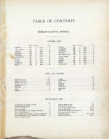 Table of Contents, Nemaha County 1908