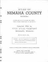 Title Page, Nemaha County 1964