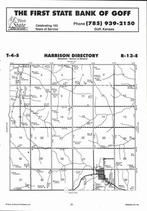 Harrison Township, Goff,  Directory Map, Nemaha County 2006