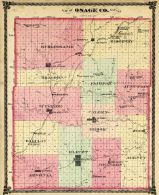 County Map Outline, Osage County 1879