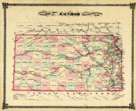 Railroad Map, Osage County 1879