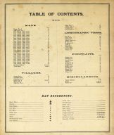 Table of Contents, Osage County 1879