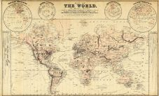 World Map, Osage County 1879