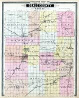 Osage County Outline Map, Osage County 1899