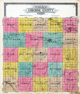 County Outline Map, Osborne County 1917