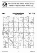 Union Township  Directory Map, Pottawatomie County 2006