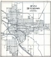 Hutchinson City - Street Map, Reno County 1918