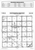 Westminster Township, Abbyville, Directory Map, Reno County 2006