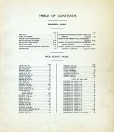 Table of Contents, Rice County 1919