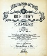 Title Page, Rice County 1919