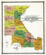 Outline Map, Riley County 1909