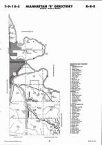Manhattan Township - East, Directory Map, Riley County 2006