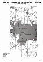 Manhattan Township - West, Rockwood, Directory Map, Riley County 2006