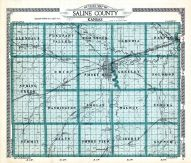 County Outline Map, Saline County 1920