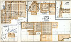 Salina City - South, Gypsum City, Bavaria, Bridgeport, Assaria, Falun, Saline County 1920