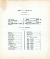 Table of Contents, Saline County 1920
