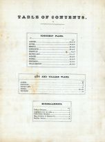 Table of Contents, Shawnee County 1873