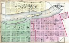 Topeka City - Wards 1, 2, and 4 - Part, Shawnee County 1873