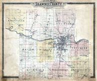County Outline Map, Shawnee County 1898