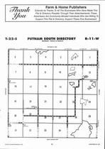 Putnam South Township Directory Map, Stafford County 2006