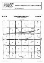 Richland Township Directory Map, Stafford County 2006
