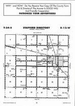 Stafford Township Directory Map, Stafford County 2006