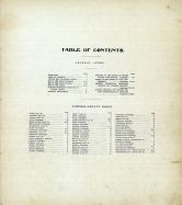 Table of Contents, Sumner County 1902