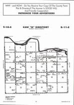 Kaw Township - West, Directory Map, Wabaunsee County 2006