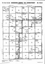 Mission Creek Township - West, Directory Map, Wabaunsee County 2006