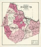 County Outline Map, Mason County 1876