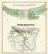 Maysville - Outline Plan, Upper Maysville, Mason County 1876