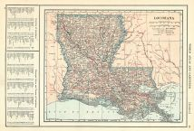 Louisiana State Map 1908 Revised 1914, Louisiana State Map 1908 revised 1914