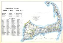 Index, Barnstable County Map, Barnstable County 1905