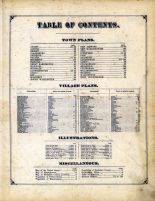 Table Of Contents, Berkshire County 1876