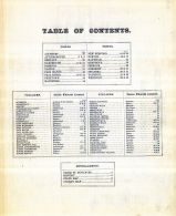 Table Of Contents, Bristol County 1871