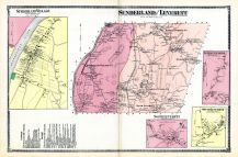 Sunderland, Leverett, Sunderland Village, Leverett Center, Leverett South, South Leverett, Leverett North, North Leverett, Franklin County 1871